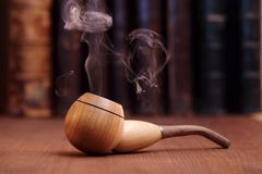 Smoking Tobacco Pipe Royalty Free Stock Photography