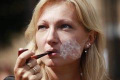 Smoking tube Royalty Free Stock Images