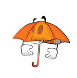 Smoking umbrella cartoon Stock Photo