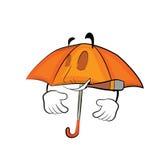 Smoking umbrella cartoon Stock Photo