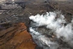 Smoking volcano Stock Photography