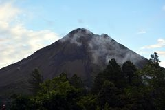 Smoking volcano Arenal in Costa Rica Royalty Free Stock Photo
