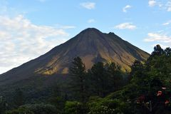 Smoking volcano Arenal in Costa Rica Stock Images