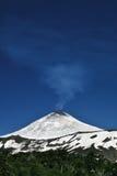 Smoking volcano portrait Stock Photo