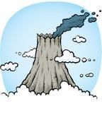 Smoking Volcano Royalty Free Stock Photo
