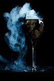 Smoking wine glass Royalty Free Stock Photo