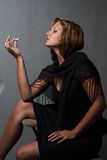 Smoking woman Stock Photos