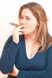 Smoking woman Royalty Free Stock Image