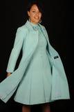 smokingowa błękit kobieta Zdjęcie Royalty Free