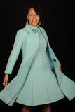 smokingowa błękit kobieta Fotografia Stock