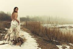 smokingowa biała kobieta Obrazy Royalty Free