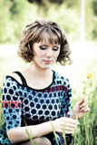 smokingowa colour dziewczyna Zdjęcie Stock