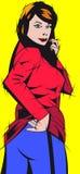 smokingowa czerwona kobieta Obraz Royalty Free