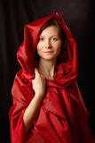 smokingowa czerwona kobieta Obraz Stock