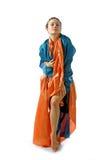 smokingowa dziewczyna Oriental stylizujący Obrazy Royalty Free