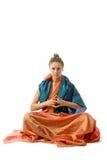 smokingowa dziewczyna Oriental stylizujący Fotografia Royalty Free