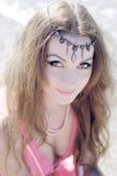 smokingowa dziewczyny portreta czerwień Zdjęcie Royalty Free