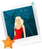 smokingowa fotografii czerwieni kobieta Zdjęcie Royalty Free