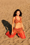 smokingowa indyjska kobieta Zdjęcia Royalty Free