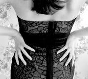 smokingowa koronkowa kobieta Obraz Royalty Free