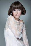 smokingowa mody portreta kobieta zdjęcia royalty free