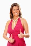 smokingowa różowa ładna kobieta Zdjęcie Stock