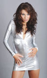 smokingowa srebna target184_0_ kobieta obrazy royalty free