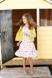 smokingowa tańcząca dziewczyna Obraz Royalty Free