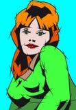 smokingowa zielona kobieta Fotografia Stock