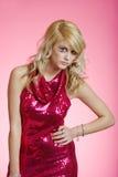 smokingowego czerwonego cekinu seksowna target451_0_ kobieta Fotografia Royalty Free