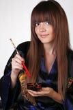 smokingowego earthenware suszi tradycyjna kobieta zdjęcia stock