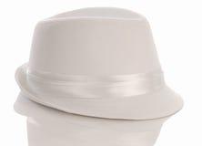 smokingowego kapeluszu mężczyzna s biel obrazy royalty free