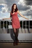 smokingowej dziewczyny ładna czerwień Obraz Royalty Free
