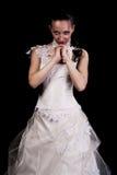 smokingowej dziewczyny ślubni potomstwa fotografia stock