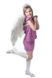 smokingowi mali princess purpur skrzydła zdjęcia royalty free