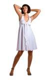 smokingowy dziewczyna biel Fotografia Stock