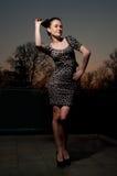 smokingowy dziewczyny splendoru lampart Zdjęcie Stock