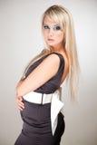 smokingowy elegancki kobieta w ciąży Fotografia Stock