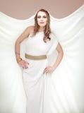 smokingowy grek inspirujący uśmiechnięci białej kobiety potomstwa Obraz Royalty Free