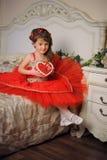 smokingowy ilustracyjny princess czerwieni wektor Fotografia Royalty Free