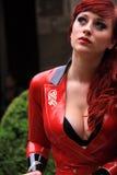 smokingowy lateksowy czerwony seksowny Zdjęcia Royalty Free
