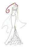 smokingowy ślub royalty ilustracja
