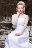 smokingowy panna młoda ślub Zdjęcia Royalty Free