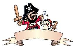 smokingowy pirat Zdjęcia Stock