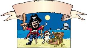 smokingowy pirat Obrazy Royalty Free