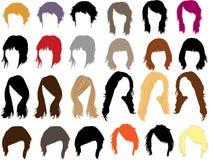 smokingowy włosy ilustracja wektor