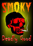 Smoky. Poster for  Stop smoking  project created in Coreldraw10 Stock Photos
