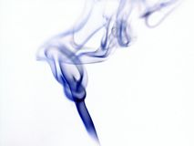 Smoky Abstract. An abstract made by smoke against a white background. It has the shape of a torch royalty free stock photography