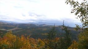 Smoky autumn mountains time lapse stock video