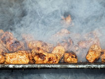Smoky barbecue Stock Photo
